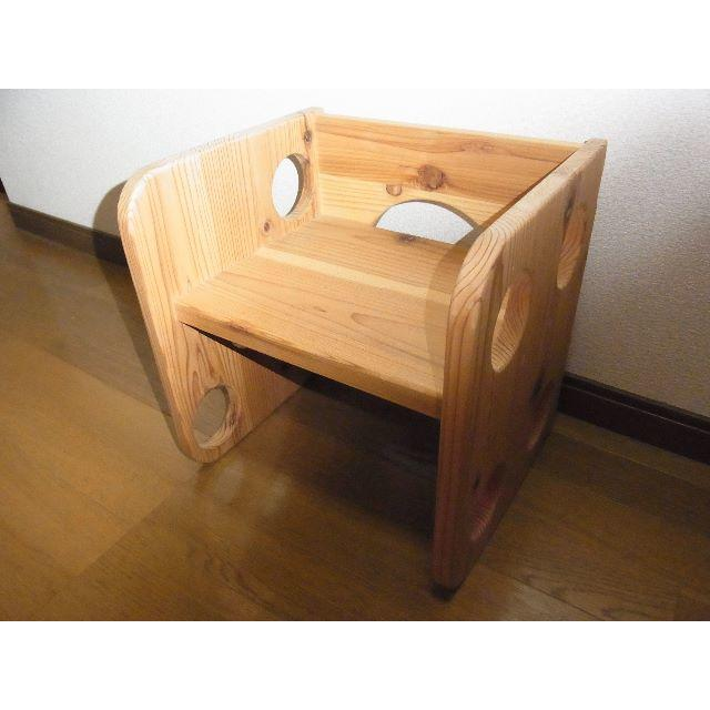 国産杉☆Kidschair☆自然素材のオリジナル家具 インテリア/住まい/日用品の椅子/チェア(その他)の商品写真