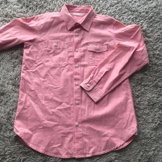 ジーユー(GU)のピンクシャツ(GU)(Tシャツ/カットソー)