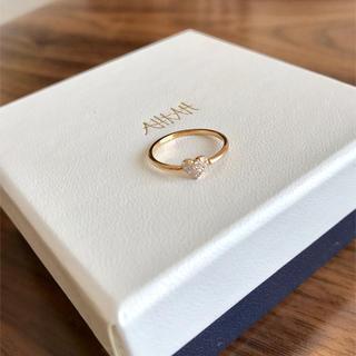 アーカー(AHKAH)のアーカー  ハートパヴェピンキー リング  ピンクゴールド(リング(指輪))