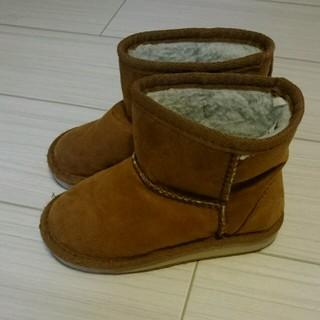 ムジルシリョウヒン(MUJI (無印良品))の無印良品 キッズムートンブーツ 16-17cm(ブーツ)