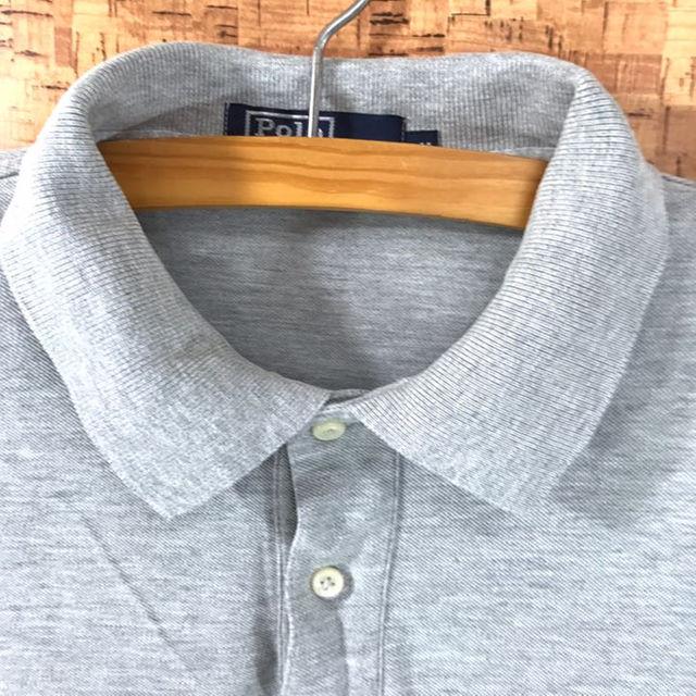 POLO RALPH LAUREN(ポロラルフローレン)の90s! 新品同様! 米製 ポロ ラルフローレン ポロシャツ ライトグレー  M メンズのトップス(ポロシャツ)の商品写真