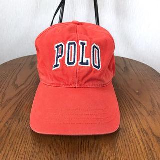 ポロラルフローレン(POLO RALPH LAUREN)の90s ポロスポーツ ロゴキャップ  ビッグロゴ フリー オレンジ(その他)