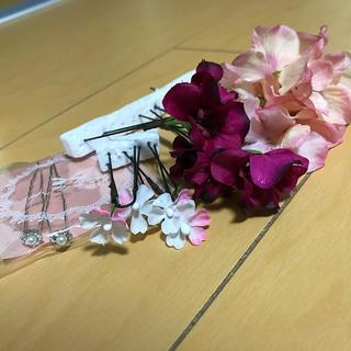 結婚式 ヘアアクセ お花(ヘッドドレス/ドレス)