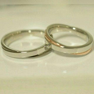 Yumi様専用 名入れ無料 ペアリング プレーンクロス リング 2個(リング(指輪))