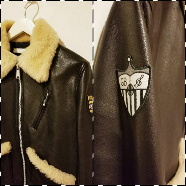 GB(ジービー)のイングラテイラー by GB レザームートンジャケット メンズのジャケット/アウター(レザージャケット)の商品写真