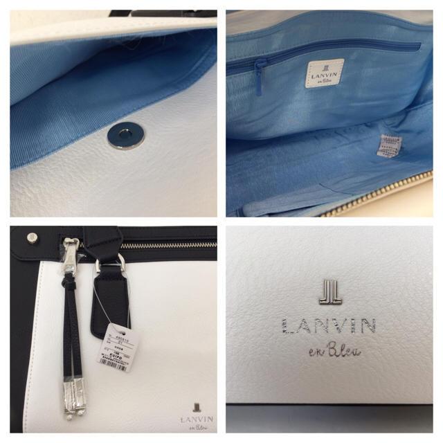 LANVIN en Bleu(ランバンオンブルー)の新品 未使用 LANVIN en Bleu ランバン オン ブルー ハンドバッグ レディースのバッグ(ハンドバッグ)の商品写真