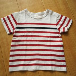 ムジルシリョウヒン(MUJI (無印良品))の無印ボーダー半袖Tシャツ80センチ(その他)