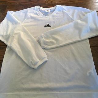アディダス(adidas)のお値引き。アディダスホワイト長袖シャツ(その他)