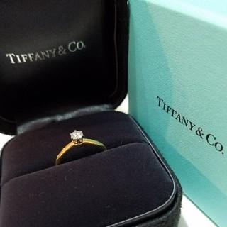 ティファニー(Tiffany & Co.)の☆ティファニー ソルティアダイヤモンドリング (K18 & Pt950)(リング(指輪))