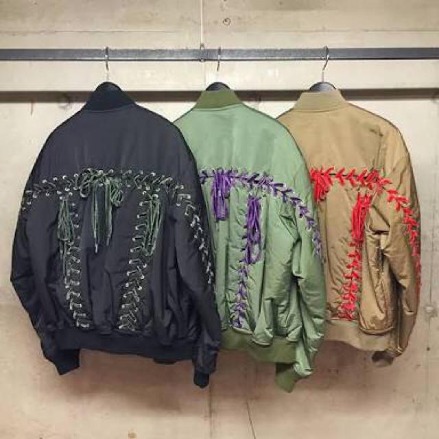 G.V.G.V.(ジーヴィジーヴィ)のG.V.G.V 💚 レースアップ MA-1  16aw レディースのジャケット/アウター(ブルゾン)の商品写真