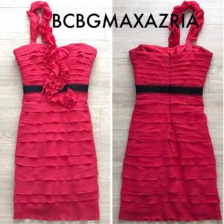 ビーシービージーマックスアズリア(BCBGMAXAZRIA)の値下げ BCBGMAXAZRIA ドレス ワンピ(ミニワンピース)