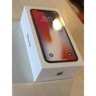 アイフォーン(iPhone)のiPhonex 256GB スペースグレー simフリー 新品本体 (スマートフォン本体)