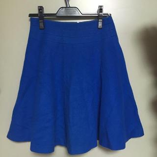デミルクスビームス(Demi-Luxe BEAMS)のdemi-luxe beams ウール スカート ブルー(ひざ丈スカート)