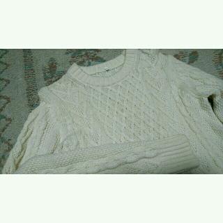 ムジルシリョウヒン(MUJI (無印良品))の無印良品 アランニット フィッシャーマン ニット セーター(ニット/セーター)