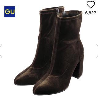 ジーユー(GU)のGU ベロアストレッチブーツ(ブーツ)