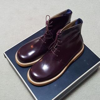 アタッチメント(ATTACHIMENT)の定価5万円未使用アタッチメントバーガンディーブーツ27(ブーツ)