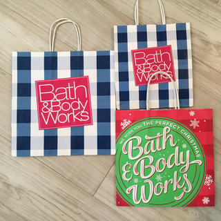 バスアンドボディーワークス(Bath & Body Works)のBath & Body Works ショップ袋3枚(ショップ袋)