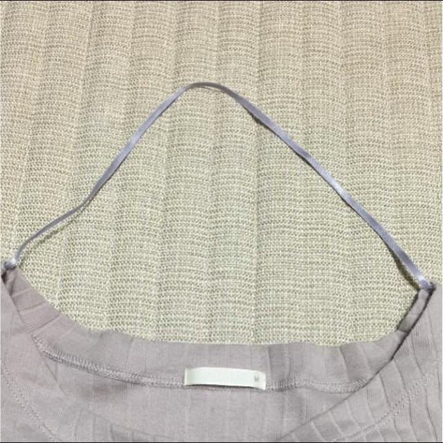 GU(ジーユー)のロングスリーブリブTシャツ レディースのトップス(Tシャツ(長袖/七分))の商品写真
