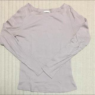 ジーユー(GU)のロングスリーブリブTシャツ(Tシャツ(長袖/七分))