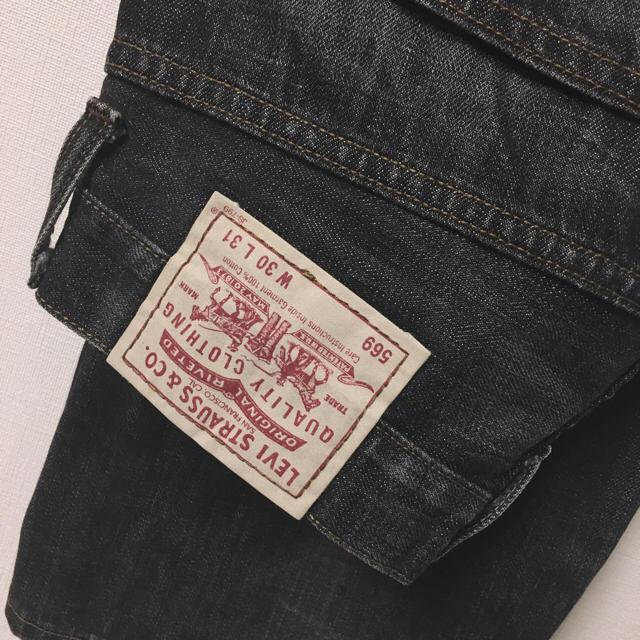 LEVI'S569 ブラックデニムパンツ メンズのパンツ(デニム/ジーンズ)の商品写真