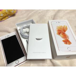 アイフォーン(iPhone)のiPhone 6s 64GB ローズゴールド Aランク(スマートフォン本体)