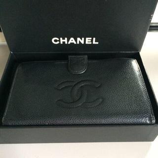 シャネル(CHANEL)のシャネル キャビアスキンがま口タイプ(財布)