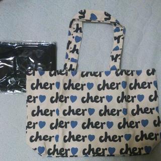 シェル(Cher)のcher ドリンクホルダー付きママバッグ レア(トートバッグ)
