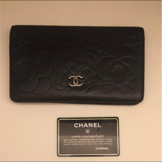 シャネル(CHANEL)のシャネル カメリア長財布 ブラック(財布)