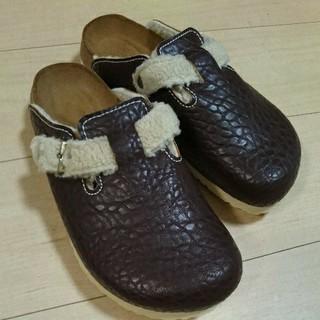 ビルケンシュトック(BIRKENSTOCK)のBIRKENSTOCK Birki's ボストン フェイクボアサボサンダル(ローファー/革靴)