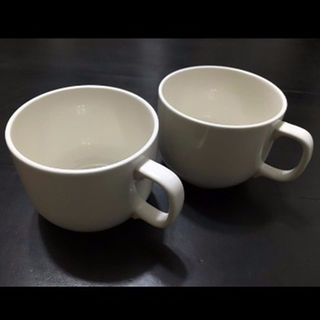 ムジルシリョウヒン(MUJI (無印良品))の美品☆無印良品☆スープカップ☆マグカップ☆大きめ☆多目的☆2客セット(グラス/カップ)