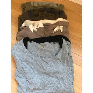 ムジルシリョウヒン(MUJI (無印良品))の重ね着風、ロンT4枚セット❗️(Tシャツ(長袖/七分))