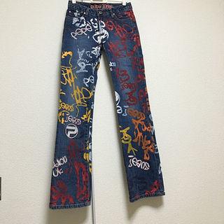ペペジーンズ(Pepe Jeans)の♡Pepe Jeansペイントデニム(S)(デニム/ジーンズ)
