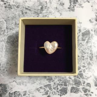 ハート型真珠リング(リング(指輪))