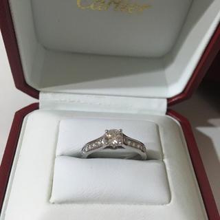 カルティエ(Cartier)の【まみちゃん様専用】カルティエ ダイヤリング 0.34ct ソリテール パヴェ(リング(指輪))