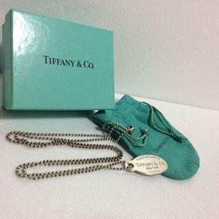 ティファニー(Tiffany & Co.)の正規/良品//Tiffany&co /オーバルタグ/ネックレス(その他)