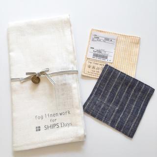 フォグリネンワーク(fog linen work)の◎MK様◎⚫︎新品⚫︎fog×SHIPS 限定クロス 1枚(キッチン小物)