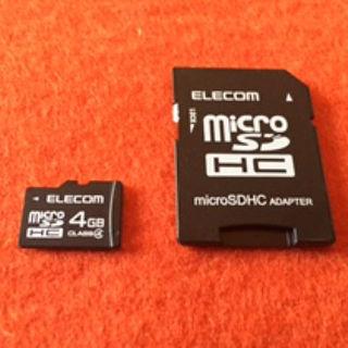 エレコム(ELECOM)のマイクロSDカード4GB(その他)