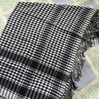 シマムラ(しまむら)の新品白黒モノトーンストール(ストール/パシュミナ)