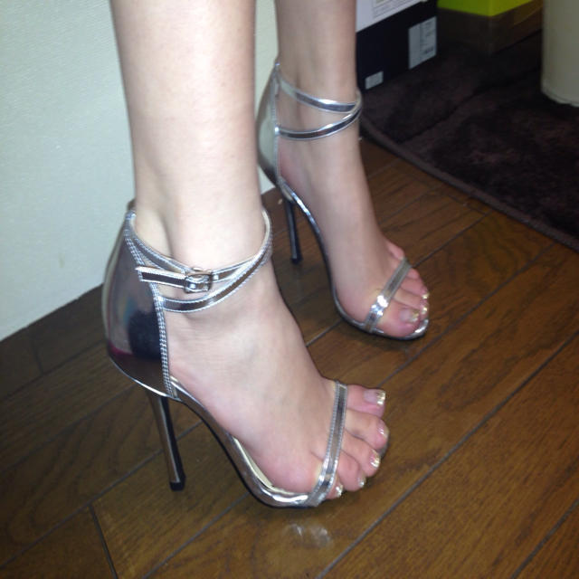 SLY(スライ)のSLY シルバーシューズ レディースの靴/シューズ(サンダル)の商品写真