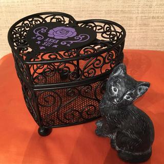アナスイ(ANNA SUI)のANNA SUI  ハート型小物入れ ♡黒猫ちゃん置物(小物入れ)