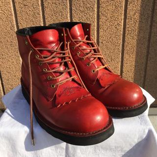 あいる318様用 革蛸 ブーツ レッド Mサイズ(27〜28cm)(ブーツ)