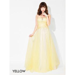 デイジーストア(dazzy store)のビジュー付背中編上げチュールベアAラインロングドレス(ロングドレス)