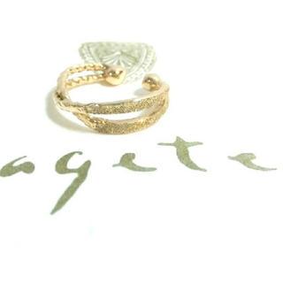 アガット(agete)のagete☆K10  イヤーカフ(イヤーカフ)