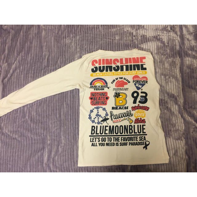 BLUE MOON BLUE(ブルームーンブルー)のBLUE MOON BLUE ロングTシャツ レディースのトップス(Tシャツ(長袖/七分))の商品写真