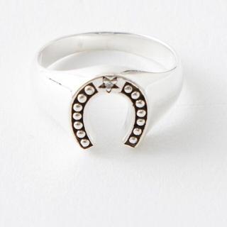 ピンキーリング ホースシューリング 馬蹄錠 シルバー925(リング(指輪))