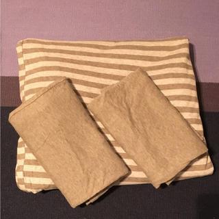 ムジルシリョウヒン(MUJI (無印良品))のqui様  専用     無印良品  布団カバー (ダブル)(シーツ/カバー)
