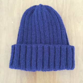ジーユー(GU)のネイビー  ニット帽(帽子)