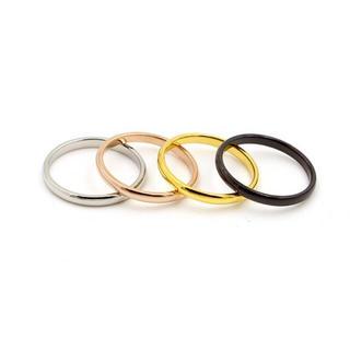 サイズ充実 1号〜 チタンステンレス ピンキーリング関節リング(リング(指輪))
