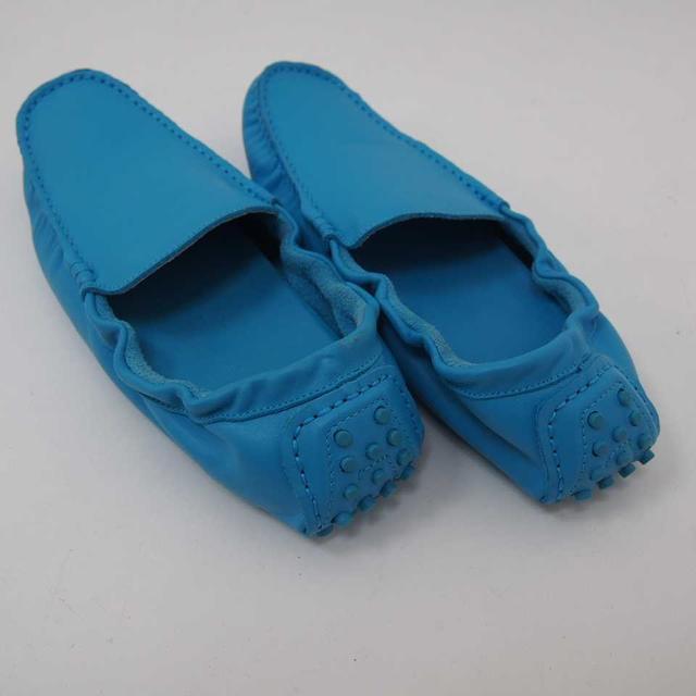 【新品】モカシン ドライビングシューズ ブルー M (12) メンズの靴/シューズ(スリッポン/モカシン)の商品写真