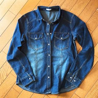 ジーユー(GU)の+panさま専用+新品*GUのデニムシャツ(S)(シャツ/ブラウス(半袖/袖なし))